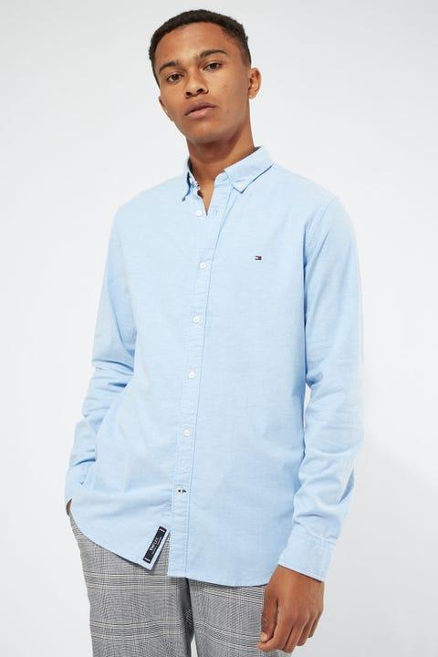 Tommy Jeans Stretch Slim Oxford Shirt Blue