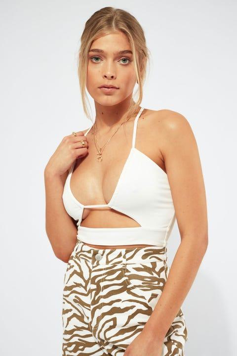 Luvalot Clothing Karina Multi Tie Top White