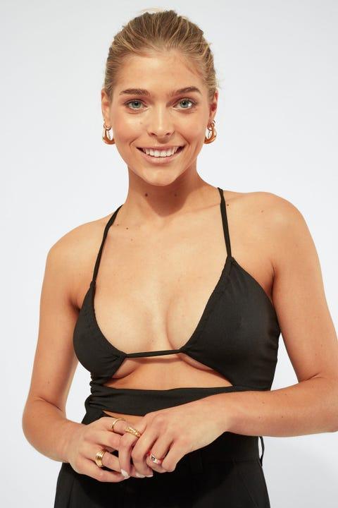 Luvalot Clothing Karina Multi Tie Top Black