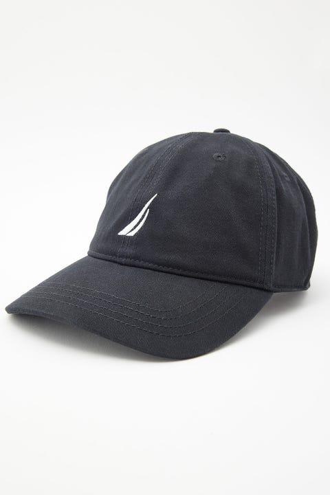 Nautica 6 Panel Buckle Hat True Black