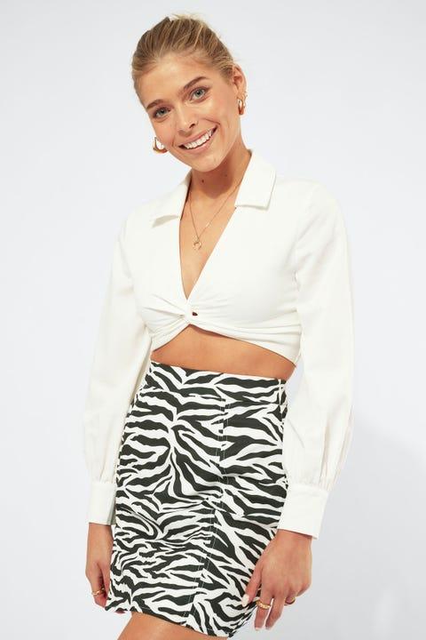 Luvalot Clothing Twisted Shirt White
