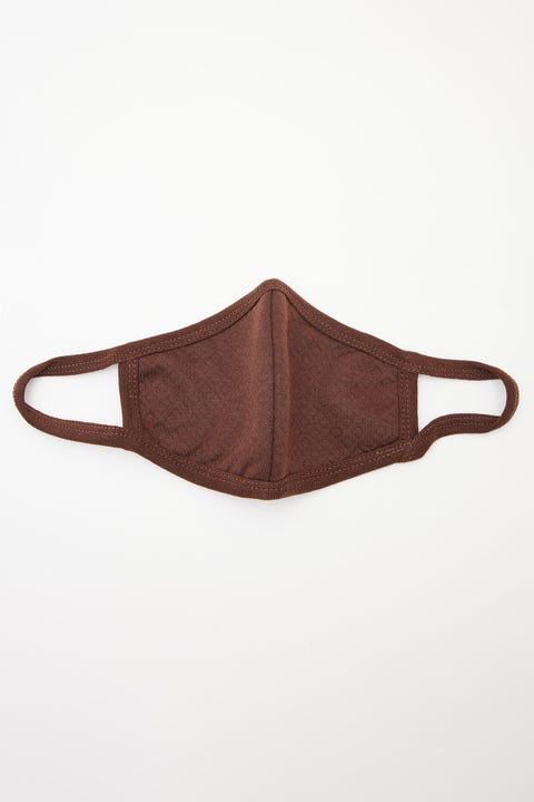 Token Knitted Face Mask Brown