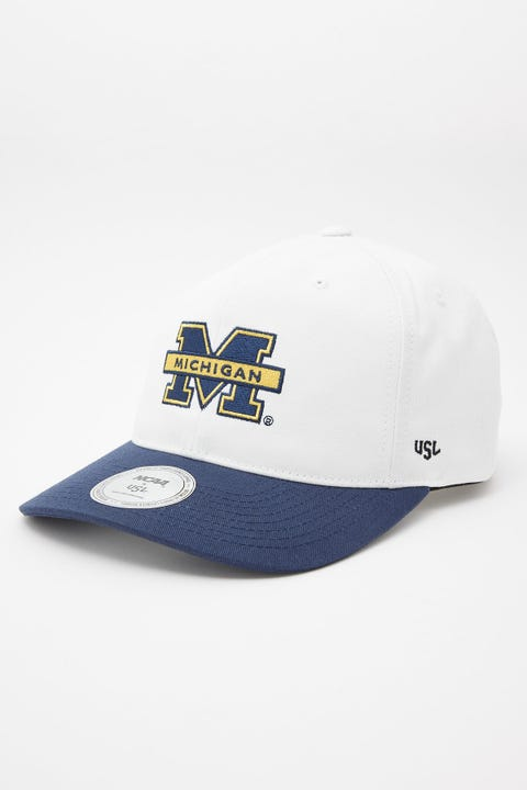 Ncaa Deadstock Michigan Logo Cap Vintage White/Navy