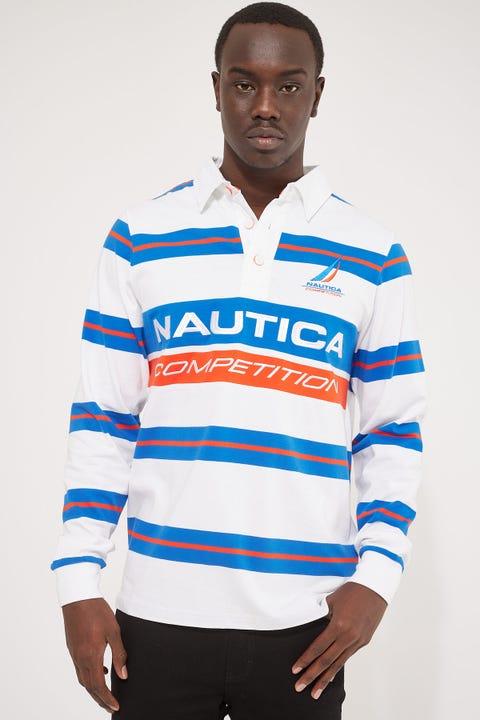 Nautica Esteban Rugby Polo White