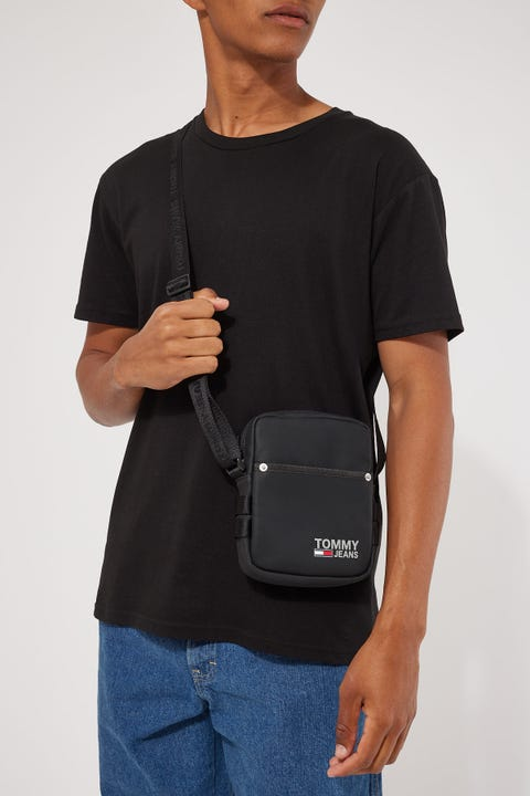Tommy Jeans Campus Reporter PU Black