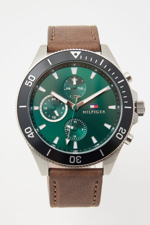 Tommy Jeans Larson Stainless Steel/Green/Tan