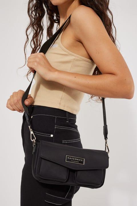 Nakedvice The NV Utility Nylon Bag Black / Silver