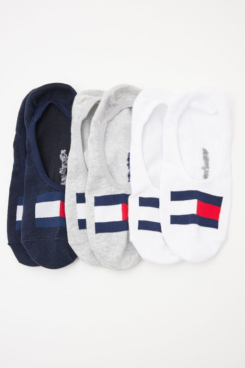 Tommy Jeans 3 Pk Flag No Show