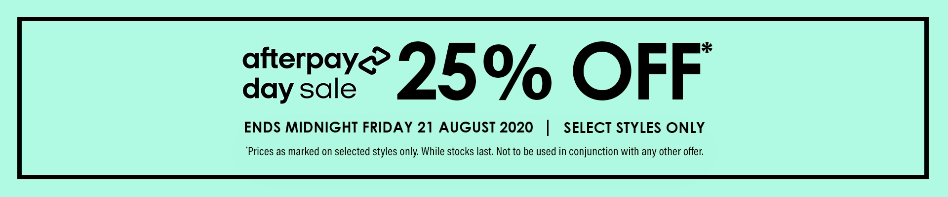 Afterpay Sale 2020